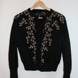 Sweaters - Vintage Cardigan with Beautiful Bead Detail